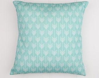 Aqua Arrows Cushion Cover
