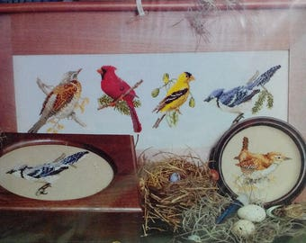 Kit-Song Birds, Counted Cross Stitch, 6 Birds, by Jeanette Crews Designs, Vintage