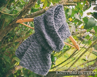 Knitting Pattern/DIY Instructions - Chilly Days Super Chunky Scarf