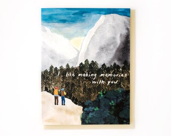 Sunrise Hike Card