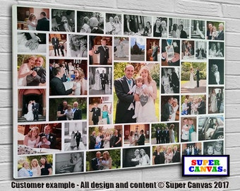 Personalised 47 Picture Photo Collage on Canvas ready to hang