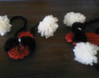 Hand crocheted baby bootie sandals