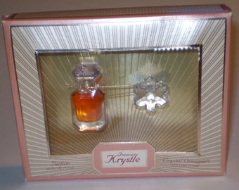 Forever Krystle Parfum Perfume 1/8 oz in Box with Crystal Snowflake Ornament Womens Vintage Rare Perfume