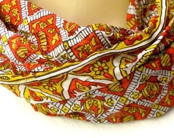 Sale! Silk scarf, Infinity Scarf