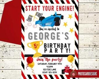 Race Car Birthday Invitation, Race Car Invitation, Race Car Birthday, Race Car, Birthday Invitation, Car, Card, Birthday, invite, Digital
