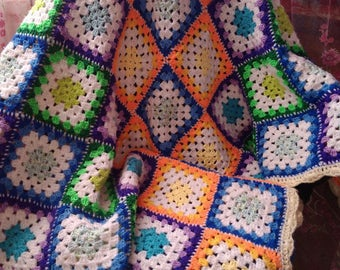 Crochet Baby Blanket Granny Squere Baby Gift Granny Squere Blanket Baby shower gift cover Granny Squere Will be made JUST FOR YOU