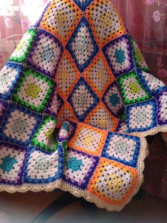 Häkeln Baby Decke Oma quadratische Baby Geschenk Oma