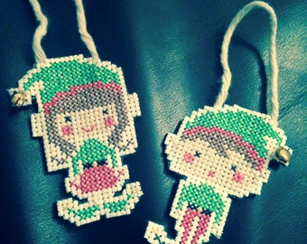 Christmas Tree Elves (with bells)