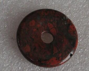 Large Red Jasper Stone Donut 30mm