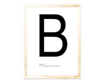 Poster, Bremen, Nordic, City, letter