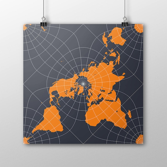 Peirce quincuncial world map poster north pole square world gumiabroncs Images