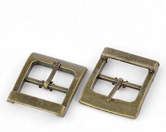 1 boucle de ceinture rectangulaire avec double passage bronze