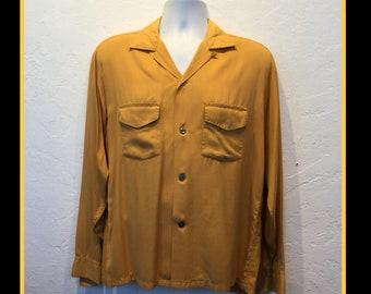Vintage 1950s gabardine shirt size medium