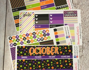 October ---- Monthly Planner Kit ---- {Includes 160+ Stickers}
