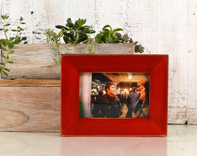 """4x6 Picture Frame in 1.5"""" Standard Style with Vintage Red Dye Finish - IN STOCK - Same Day Shipping - SALE 4 x 6 Photo Frame Rustic"""