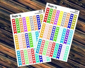 Heart Checklist - Checklist Stickers - Planner List - Planner Stickers - Attention Stickers - Icon Stickers (#10177)