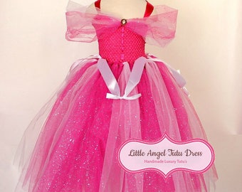 DELUXE Sleeping Beauty Tutu Dress. Disney Princess Dress. Aurora Briar Rose Dress. Fancy Dress. Sleeping Beauty Costume. World Book Day