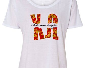 Chi Omega Slouchy T-Shirt