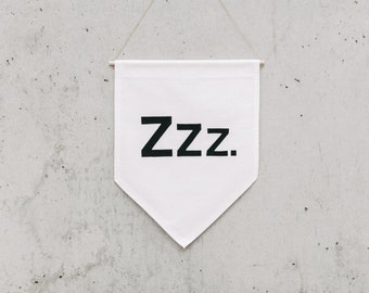ZZZ. - Wall Banner, customizable, Canvas wall banner, canvas banner, wall decor, wall hanging. SIZE XL.