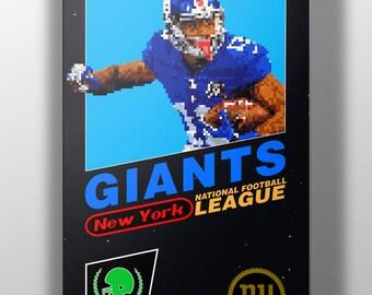 New York Giants Retro NES Box Art Print- Odell Beckham Jr.