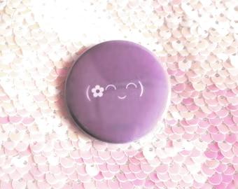 Flower Emoticon Pin