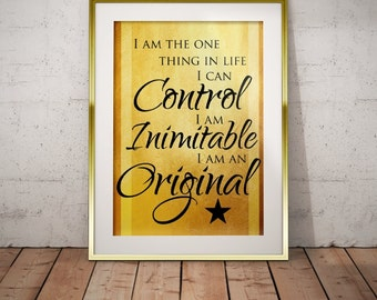 Hamilton Musical Quote Wait For It Typography Poster Print