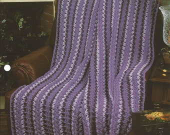 Pattern Afghan Blanket Crochet Cable Strip - Annie's Crochet Quilt Afghan - Mile-A-Minute, Home Decor, Bedspread, Couch Sofa Throw, Bedding