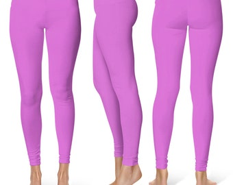 Orchid Leggings, Mid Rise Waist Workout Pants for Women, Yoga Leggings