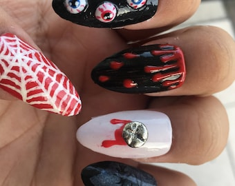 Gory Halloween Nails