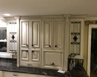 Custom Stained Glass Panels for Windows or Cabinet Doors