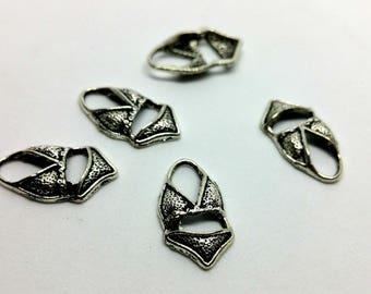 Charm 1 X - Bikini swimsuit Beach pool - silver metal
