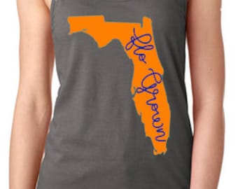 Flo Grown Ladies State of Florida Racer Back Tank