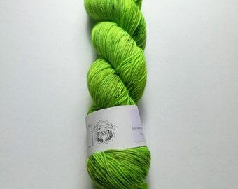Botanical: hand dyed tonal and speckled Merino sock yarn by Star Fiber Studio