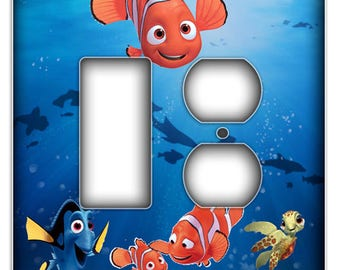 Nemo  Light Switch Cover - Rocker Duplex Decorative Switch Plate Cover