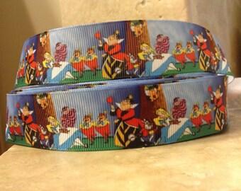 5 YDS Alice In Wonderland Landscape Ribbon