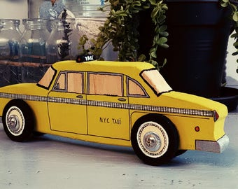 Child room wooden classic car model