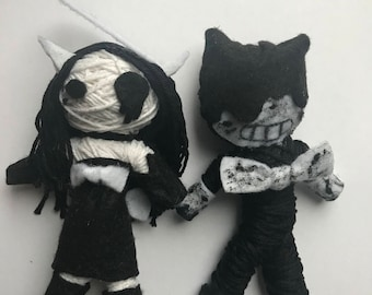 Bendy and the Ink Machine: Alice Angel and Bendy voodoo string dolls (set)