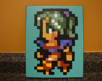 Final Fantasy 6 (SNES) made to order - ANY character - Pixel Painting 8x10 canvas