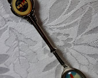 Nasa rocket launching souvenir spoon silver plate silverplated demitasse spoon