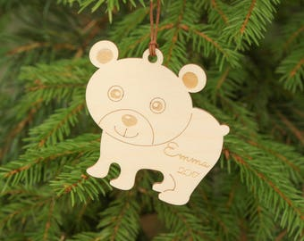 First Christmas ornament, Personalized Christmas ornament, Animal ornament, Unique Christmas ornaments, Babys first Christmas ornament, Baby