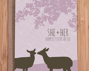 gay wedding card / lesbian wedding card / does
