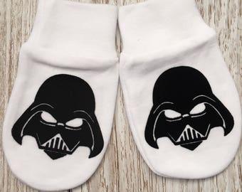 Star Wars Darth Vader Inspired Baby Scratch Mitts