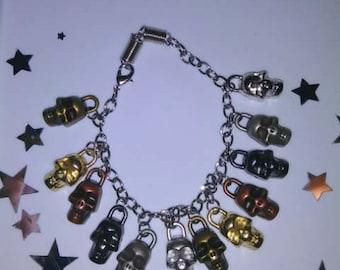 1PC Antique/Vintage Skull Bracelet