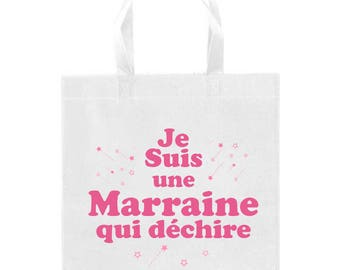 Fashion tote bag, shopping bag , French, godmother
