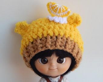 Lemon Cupcake Crochet Hat for Mini MuiChan and Dal