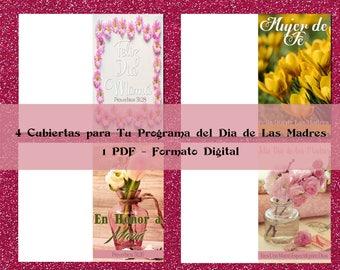4 Cubiertas-Portadas para tu Programa Especial del Día de las Madres