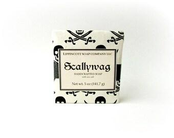 Pirate Soap, Cold Process Soap, Men's Soap, Bay Rum Soap, Salt Soap, Bar Soap, Phthalate Free Soap, Dead Sea Salt Soap,  Father's Day Gift