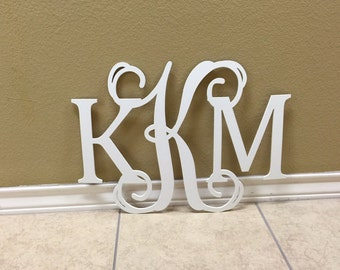Monogram Wall Art, Wall Hanging, Letters for Nursery, Wooden Monogram Initials, Dorm Room Decor, Wedding Guest Book Sign, All Sizes Letters