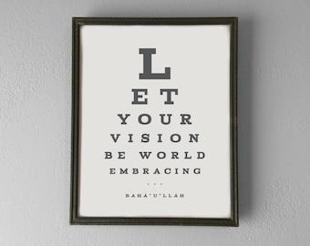 Printable | Bahá'u'lláh | World Embracing | Inspirational Quote Poster | Digital File | INSTANT DOWNLOAD