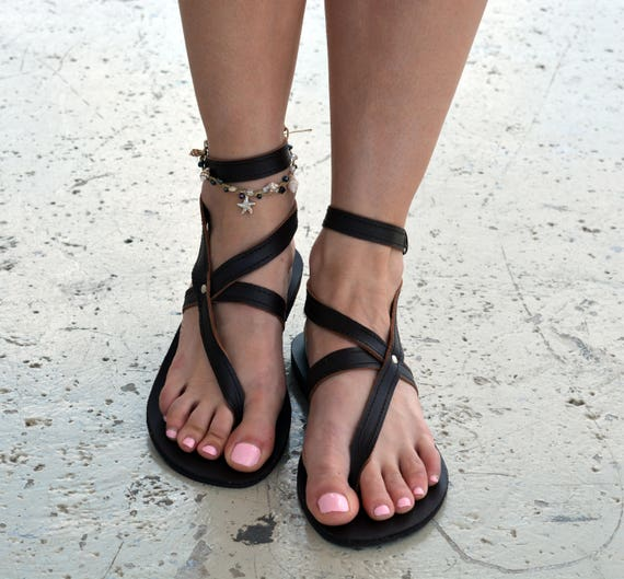 ''Nephele'' Casual Strappy Leather Ancient Sandals Flats Leather Sandals Sandals Grecian Leather Greek Brown Genuine Sandals v8czq46vw7